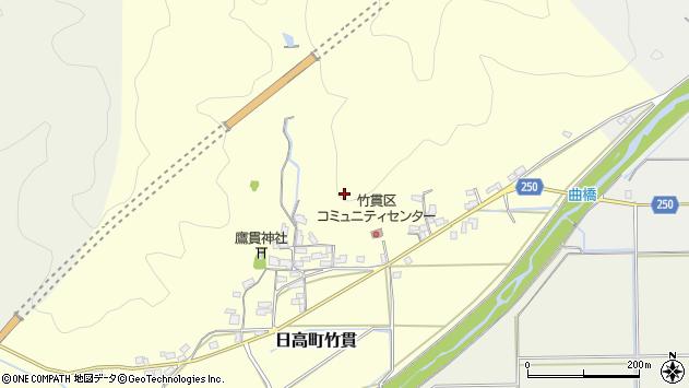 〒669-5332 兵庫県豊岡市日高町竹貫の地図