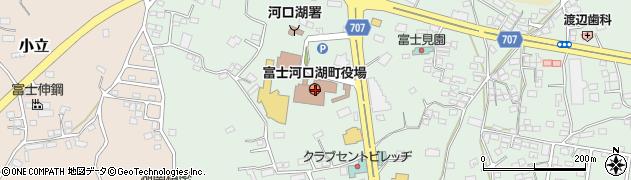 山梨県南都留郡富士河口湖町周辺の地図