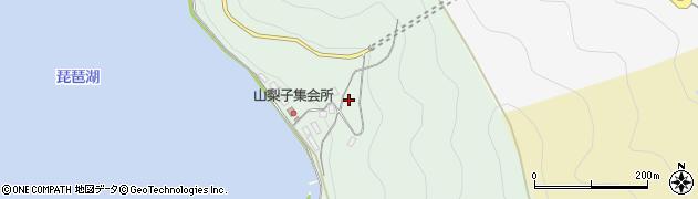 滋賀県長浜市木之本町山梨子周辺の地図