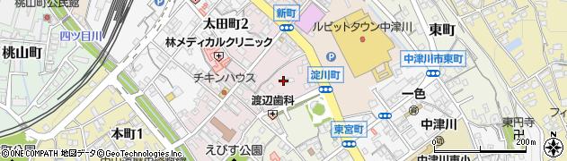 岐阜県中津川市新町周辺の地図