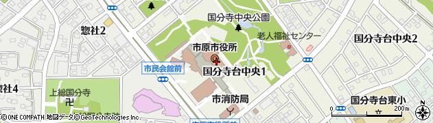 千葉県市原市周辺の地図
