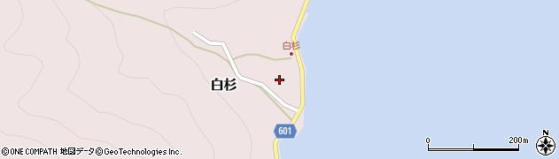 京都府舞鶴市白杉周辺の地図