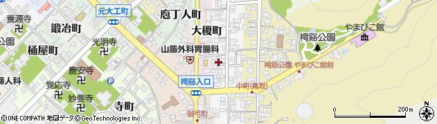 鳥取県鳥取市中町周辺の地図