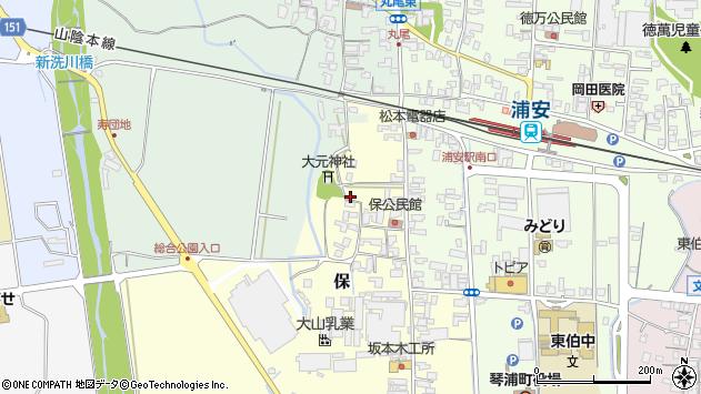 〒689-2351 鳥取県東伯郡琴浦町保の地図