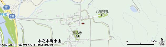 滋賀県長浜市木之本町小山周辺の地図