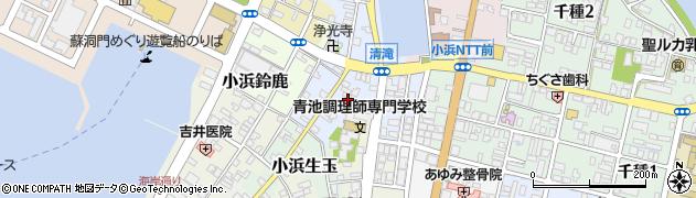 福井県小浜市小浜清滝周辺の地図