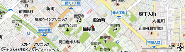 鳥取県鳥取市桶屋町周辺の地図