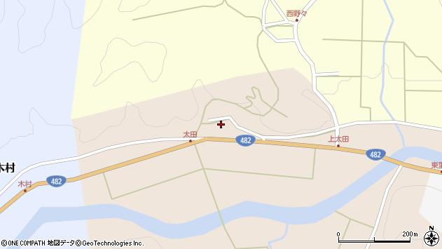 〒668-0335 兵庫県豊岡市但東町太田の地図