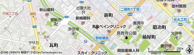 鳥取県鳥取市元町周辺の地図