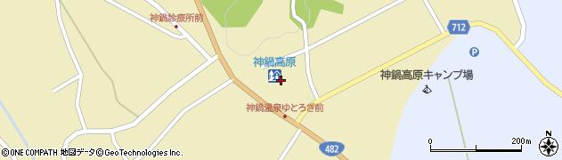 神鍋高原周辺の地図
