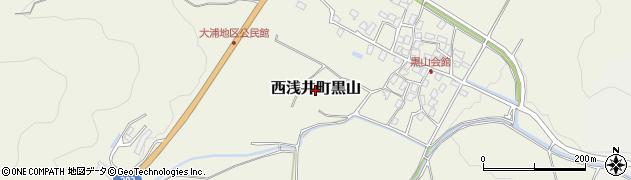 滋賀県長浜市西浅井町黒山周辺の地図