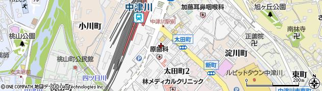 岐阜県中津川市太田町周辺の地図