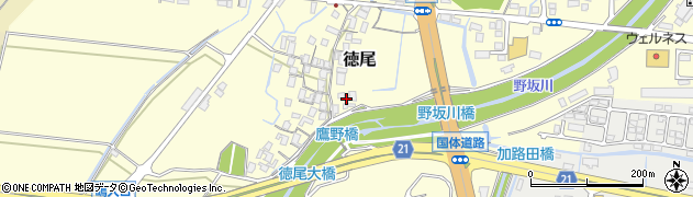 鳥取県鳥取市徳尾周辺の地図