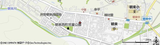 京都府舞鶴市朝来西町周辺の地図