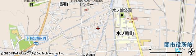 岐阜県関市下有知周辺の地図
