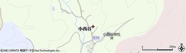 鳥取県鳥取市小西谷周辺の地図
