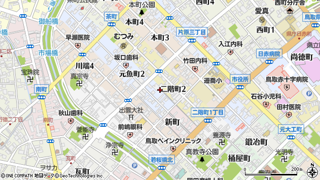 〒680-0034 鳥取県鳥取市元魚町の地図