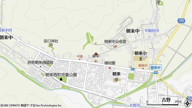 〒625-0005 京都府舞鶴市朝来中の地図