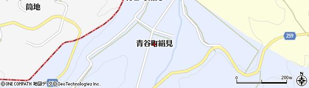 鳥取県鳥取市青谷町絹見周辺の地図