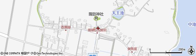岐阜県関市黒屋周辺の地図