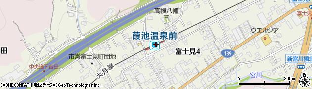 山梨県富士吉田市周辺の地図