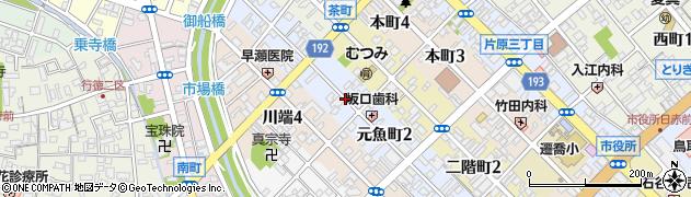鳥取県鳥取市元魚町周辺の地図