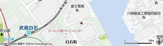 神奈川県川崎市川崎区白石町周辺の地図