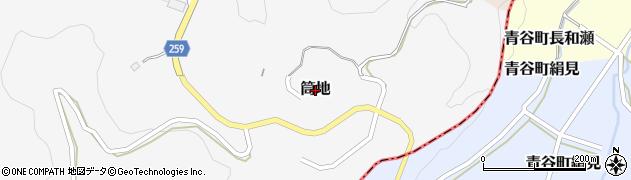 鳥取県湯梨浜町(東伯郡)筒地周辺の地図