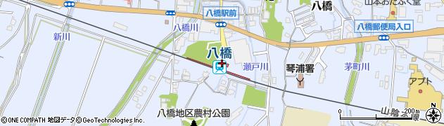 鳥取県東伯郡琴浦町周辺の地図