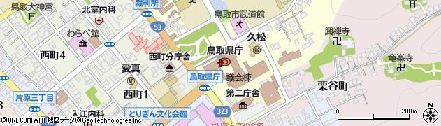 鳥取県周辺の地図