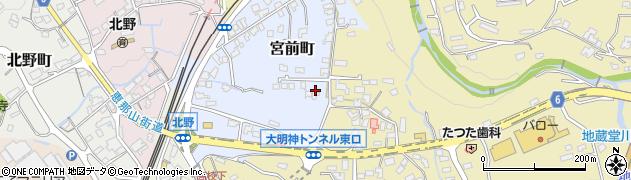 岐阜県中津川市宮前町周辺の地図