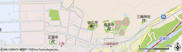 岐阜県岐阜市三輪周辺の地図