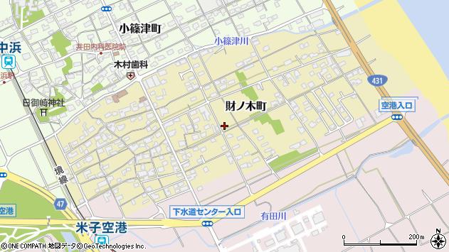 〒684-0054 鳥取県境港市財ノ木町の地図