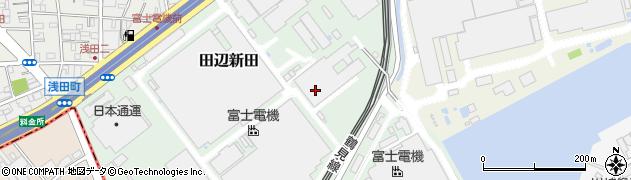 神奈川県川崎市川崎区田辺新田周辺の地図