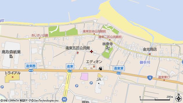 〒689-2304 鳥取県東伯郡琴浦町逢束の地図