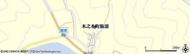 滋賀県長浜市木之本町飯浦周辺の地図