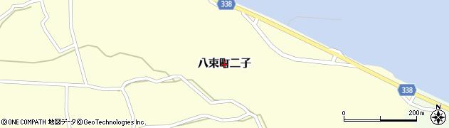 島根県松江市八束町二子周辺の地図