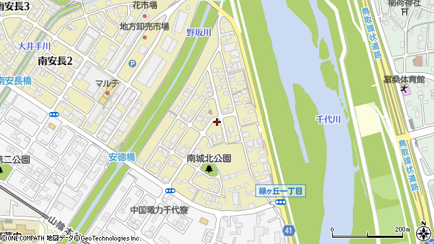 〒680-0914 鳥取県鳥取市南安長の地図