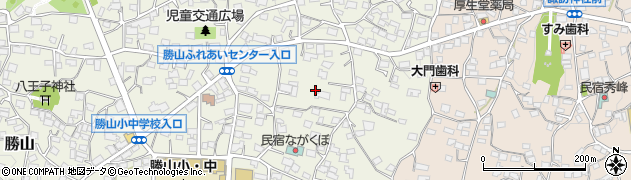 山梨県南都留郡富士河口湖町勝山周辺の地図