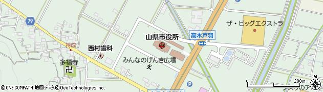 岐阜県山県市周辺の地図