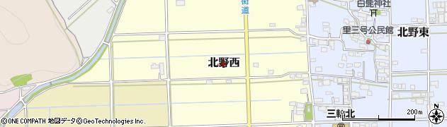 岐阜県岐阜市北野西周辺の地図