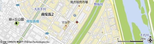 鳥取県鳥取市南安長周辺の地図