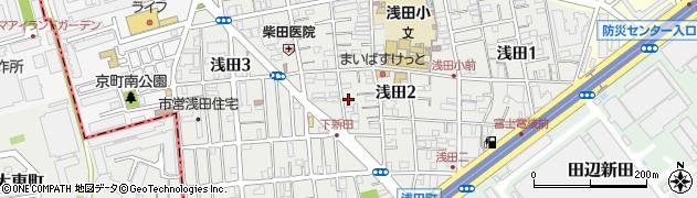 神奈川県川崎市川崎区浅田周辺の地図