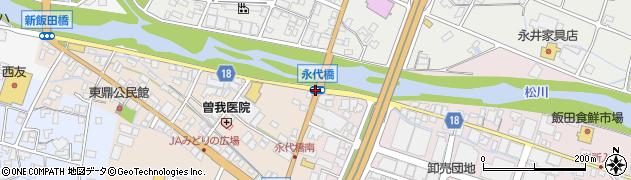 永代橋周辺の地図