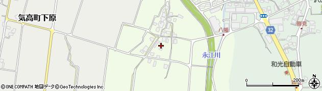 鳥取県鳥取市気高町八幡周辺の地図