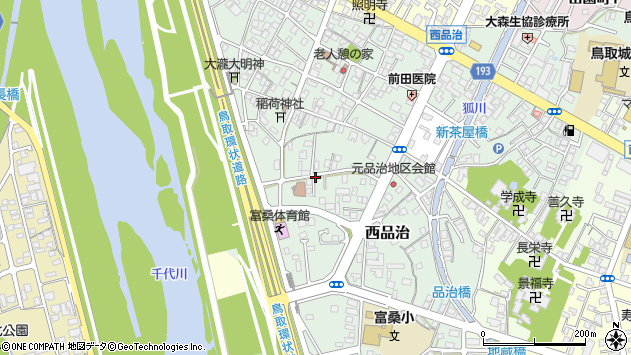 〒680-0811 鳥取県鳥取市西品治の地図
