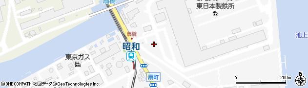 神奈川県川崎市川崎区扇町周辺の地図
