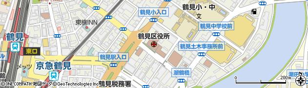 神奈川県横浜市鶴見区周辺の地図