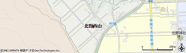 岐阜県岐阜市北野西山周辺の地図