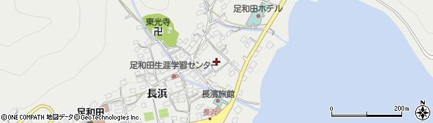 山梨県南都留郡富士河口湖町長浜周辺の地図